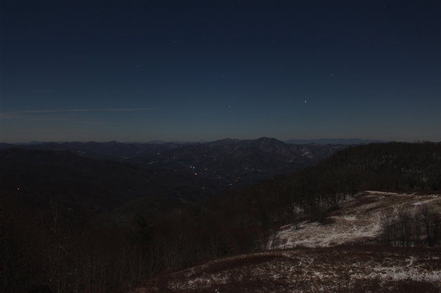 Moonshine over WNC, 3am