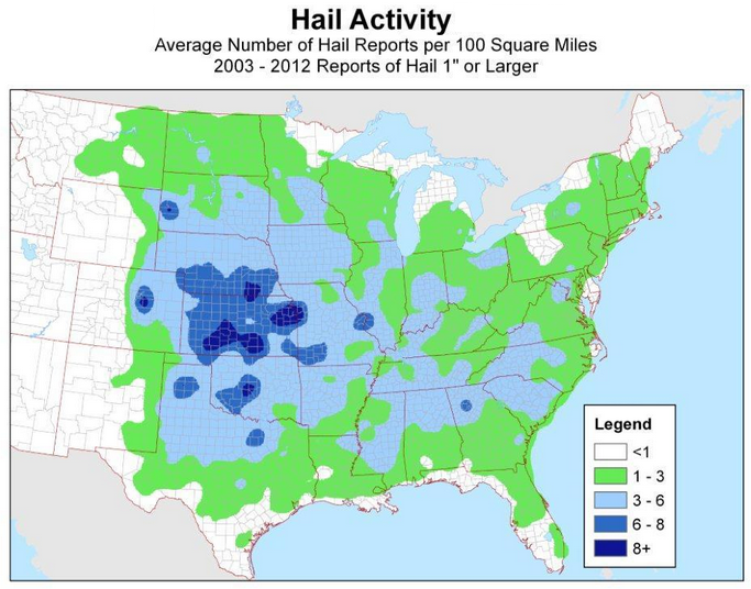 Large Hail Map